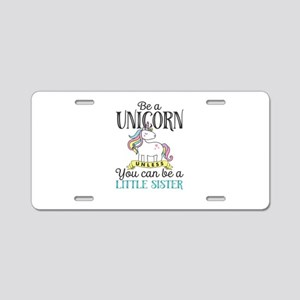 Unicorn LITTLE SISTER Aluminum License Plate