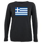 Greece Plus Size Long Sleeve Tee