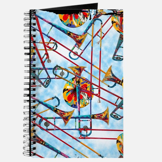 Trombone Design Colorful Trombone Painted Journal