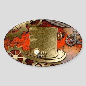 Steampunk witch hat Sticker