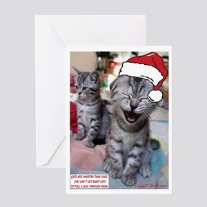 Cats Are Smarter Than Dogs Greeting Card