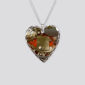 Steampunk witch hat Necklace