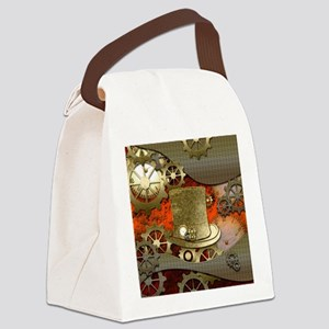 Steampunk witch hat Canvas Lunch Bag