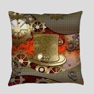 Steampunk witch hat Everyday Pillow