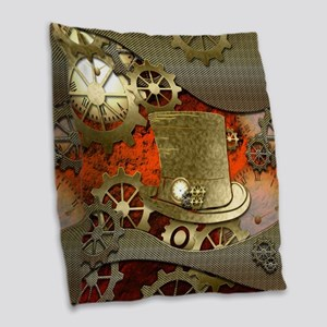 Steampunk witch hat Burlap Throw Pillow