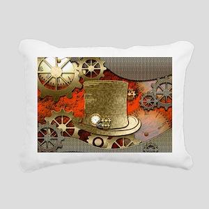 Steampunk witch hat Rectangular Canvas Pillow