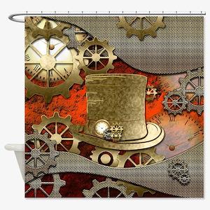 Steampunk witch hat Shower Curtain