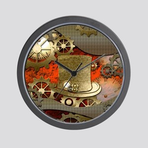 Steampunk witch hat Wall Clock