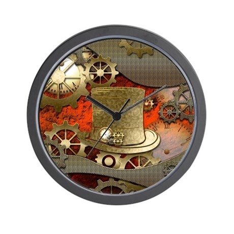 Steampunk Witch Hat Wall Clock By Fantasyworld8