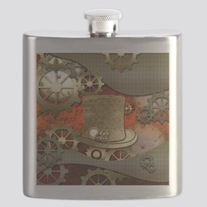 Steampunk witch hat Flask