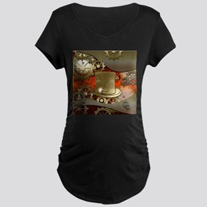 Steampunk witch hat Maternity T-Shirt