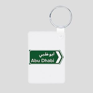 Abu Dhabi, United Arab Emi Aluminum Photo Keychain