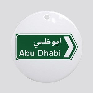 Abu Dhabi, United Arab Emirates Round Ornament