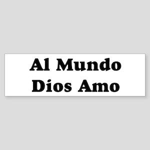 Black Al Mundo Bumper Sticker