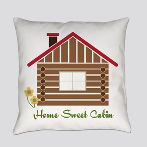 Home Sweet Cabin Everyday Pillow