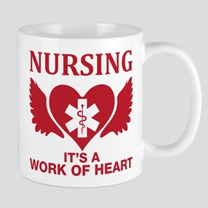 Nursing It's A Work Of Heart Mugs