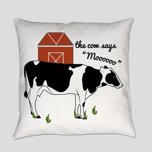 Cow Says Everyday Pillow