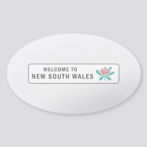 Welcome to New South Wales, Austral Sticker (Oval)