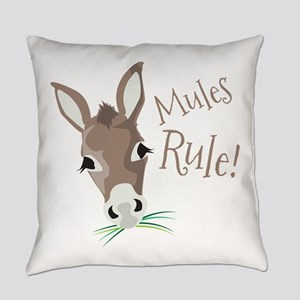 Mules Rule Everyday Pillow