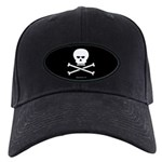 Jolly Pirate Black Cap with Patch
