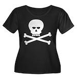Jolly Pi Women's Plus Size Scoop Neck Dark T-Shirt