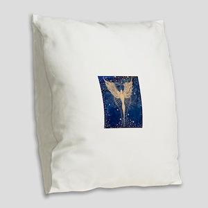 Angel Aura Burlap Throw Pillow