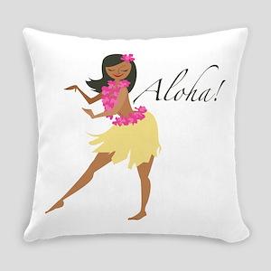 Aloha Girl Everyday Pillow