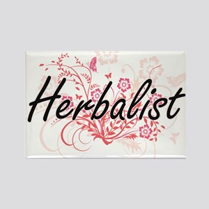 Herbalist Artistic Job Design with Flowers Magnets