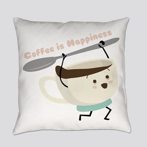 Coffee Is Happiness Everyday Pillow