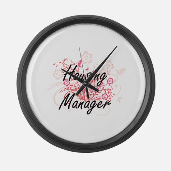 Housing Manager Artistic Job Desi Large Wall Clock