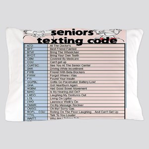 senior texting code Pillow Case