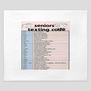 senior texting code King Duvet