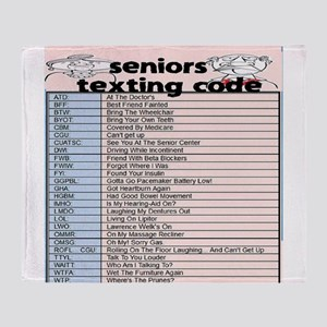 senior texting code Throw Blanket