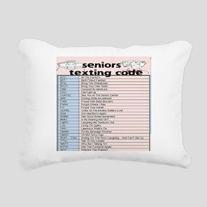 senior texting code Rectangular Canvas Pillow