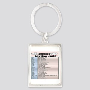 senior texting code Keychains