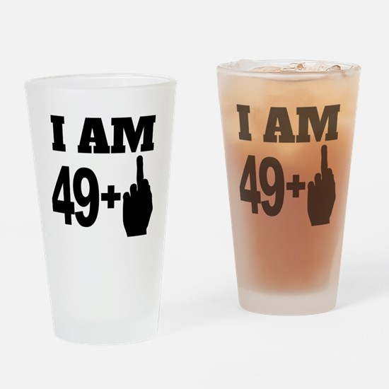 49 Years Old Middle Finger Drinking Glass