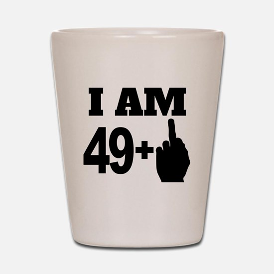 49 Years Old Middle Finger Shot Glass