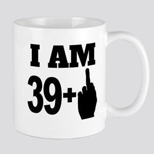 39 Years Old Middle Finger Mugs