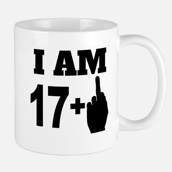 17 Years Old Middle Finger Mugs