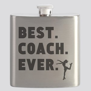 Best Coach Ever Figure Skating Flask