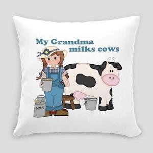 My Grandma Milks Cows Everyday Pillow