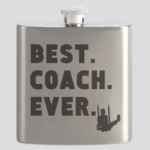 Best Coach Ever Gymnastics Flask