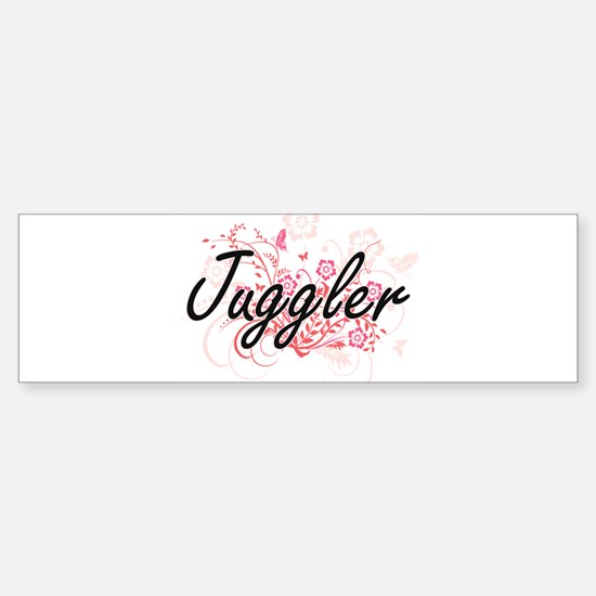 Juggler Artistic Job Design with Fl Bumper Bumper Bumper Sticker