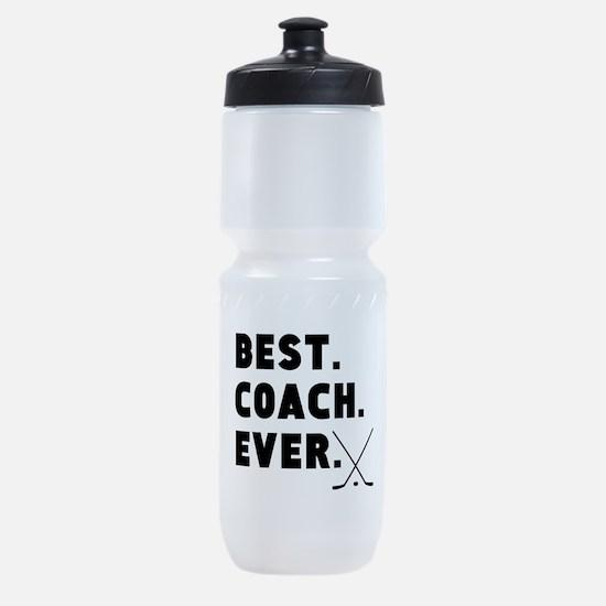 Best Coach Ever Hockey Sports Bottle