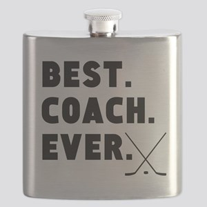 Best Coach Ever Hockey Flask