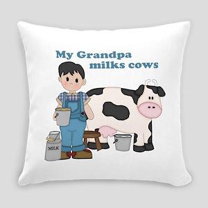 My Grandpa Milks Cows Everyday Pillow