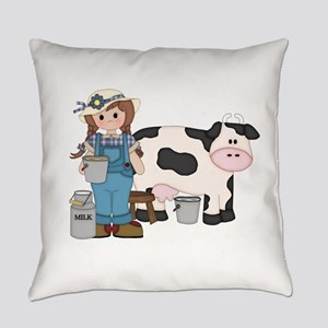 Dairy Farm Girl Everyday Pillow