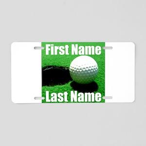 Golfball Aluminum License Plate