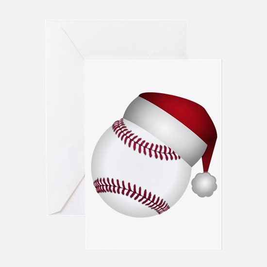 Christmas Baseball Greeting Cards