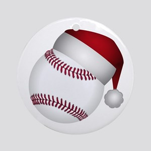christmas baseball round ornament - Baseball Christmas Ornaments